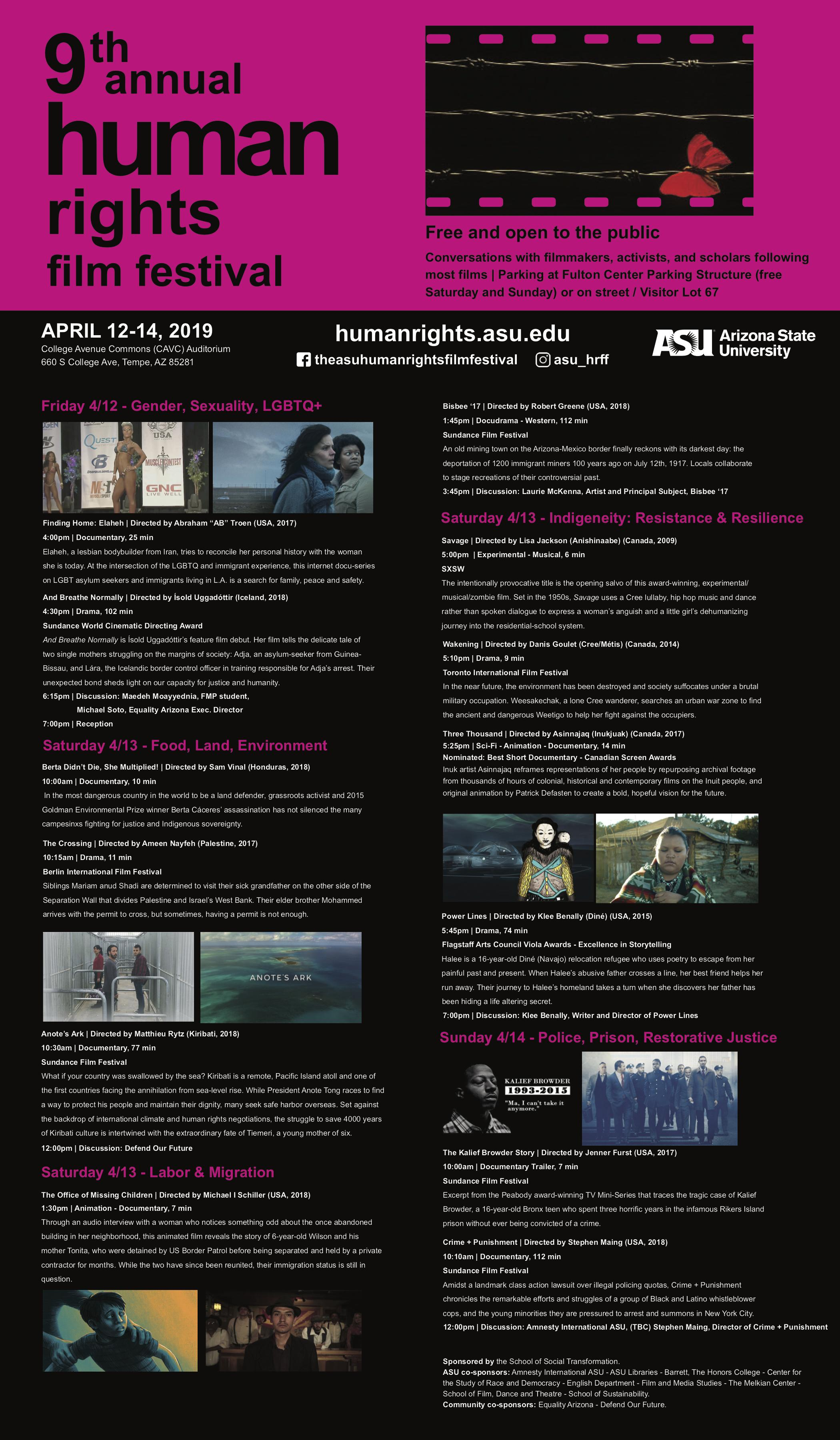 Human Rights Film Festival schedule
